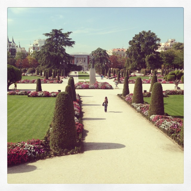 El retiro amb El museo del Prado al fons #instagram