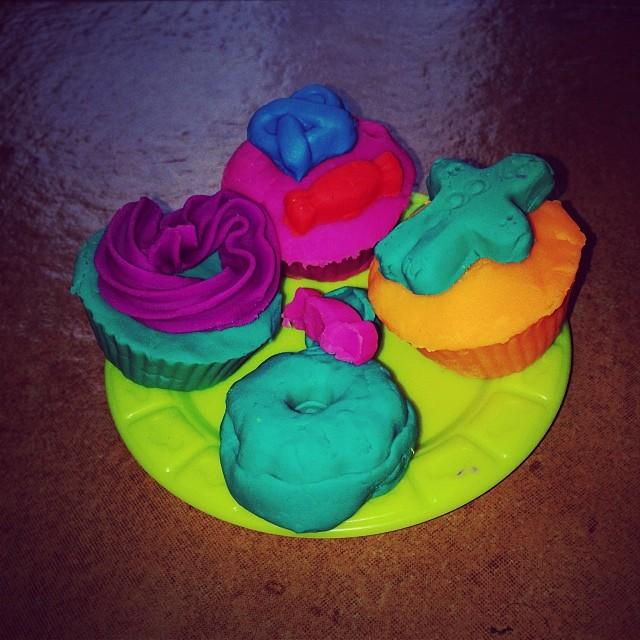 Fent cupcakes de pastelina #instagram
